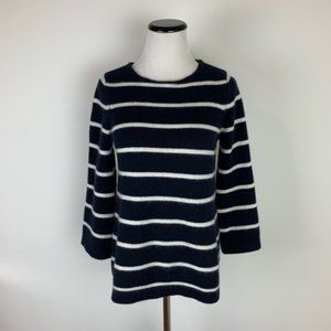Demylee 100% Cashmere Navy Striped Sweater Size S
